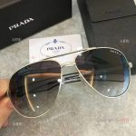 2017 New Copy Prada Silver Metal Sunglasses - Prada Men Sunglasses