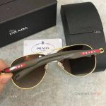 AAA Copy Prada double-bar Sunglasses - Mens PRADA Gray Sunglasses (7)