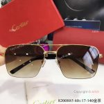 Buy Wholesale Cartier Gold & Brown Sunglasses - Fashion double-bar Sunglasses