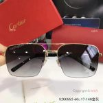 Buy Wholesale Cartier Gold & Brown Sunglasses - Fashion double-bar Sunglasses (3)