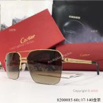Buy Wholesale Cartier Gold & Brown Sunglasses - Fashion double-bar Sunglasses (5)