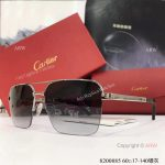 Copy Cartier double-bar Sunglasses - Silver Frame - AAA Replica Mens Gift (5)