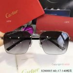 High Quality Replica Cartier Gray Sunglasses - double-bar Frame