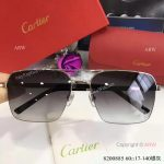 High Quality Replica Cartier Gray Sunglasses - double-bar Frame (3)