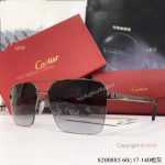 High Quality Replica Cartier Gray Sunglasses - double-bar Frame (5)