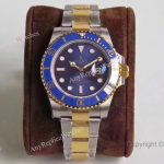 AR Factory Rolex Submariner 2-Tone Blue Face Real Swiss Watch 40 mm