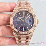 replica-audemars-piguet-royal-oak-15400-n-rose-gold-diamond-blue-dial-swiss-3120
