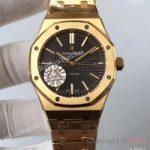 replica-audemars-piguet-royal-oak-15400-zx-yellow-gold-black-dial-swiss-3120
