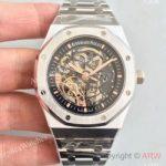 replica-audemars-piguet-royal-oak-15407-jf-stanless-steel-black-skeleton-dial-swiss-3132