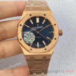 replica-audemars-piguet-royal-oak-15450-jf-rose-gold-blue-dial-swiss-3120