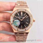 replica-audemars-piguet-royal-oak-15450-jf-rose-gold-diamonds-black-dial-swiss-3120