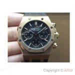 replica-audemars-piguet-royal-oak-26320-rose-gold-black-dial-rubber-strap-swiss-7750