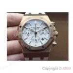 replica-audemars-piguet-royal-oak-26320-rose-gold-white-dial-rubber-strap-swiss-7750