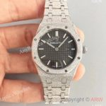 replica-audemars-piguet-royal-oak-frosted-gold-quartz-33mm-67653-om-stainless-steel-black-dial-swiss-3132