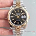replica-rolex-datejust-ii-116333-41mm-ew-stainless-steel-yellow-gold-black-dial-swiss-3136