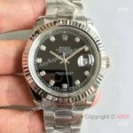 replica-rolex-datejust-ii-116334-41mm-nf-stainless-steel-black-diamonds-dial-swiss-2836-2