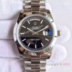 replica-rolex-day-date-40-228206-40mm-kw-stainless-steel-black-diagonal-dial-swiss-3255