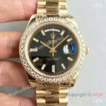replica-rolex-day-date-40-228398tbr-40mm-kw-yellow-gold-diamonds-black-dial-swiss-3255