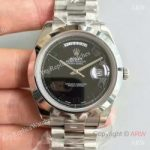 replica-rolex-day-date-ii-218206-41mm-v6-stainless-steel-black-dial-swiss-2836-2