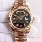 replica-rolex-day-date-ii-218235-41mm-kw-rose-gold-black-dial-swiss-3255