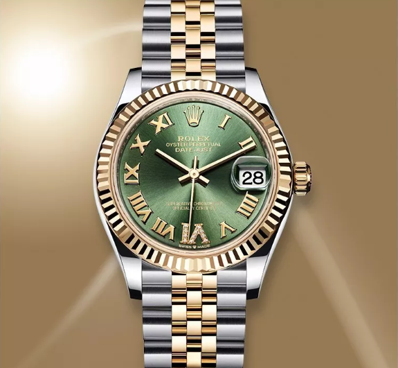 Rolex Datejust Olive green watch