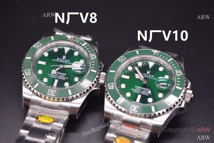 V10 Noob Rolex Submariner Green Swiss Replica Watches (1)