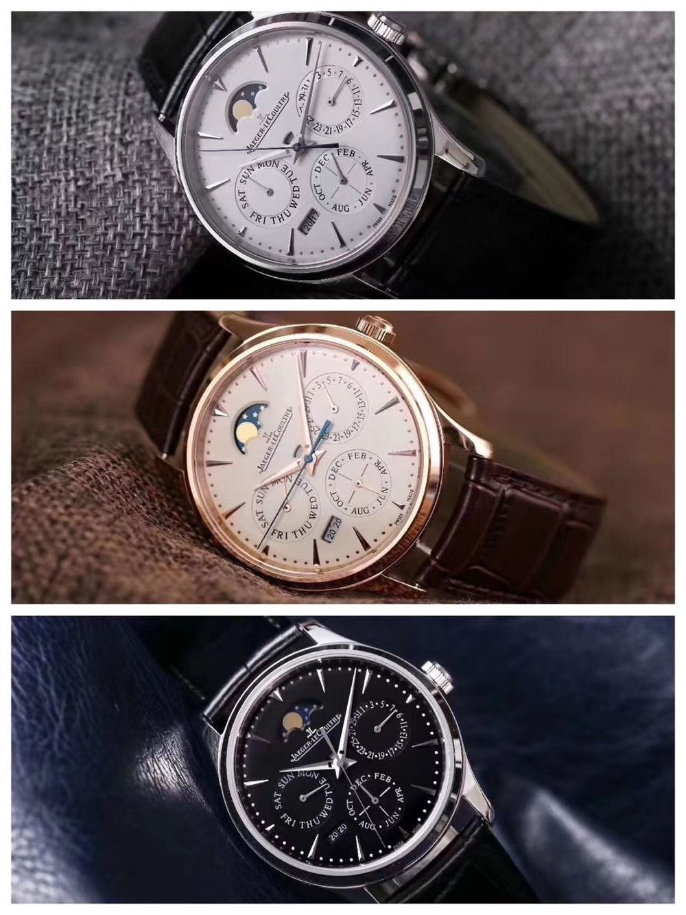 Jaeger Lecoultre Moonphase Chronograph watch