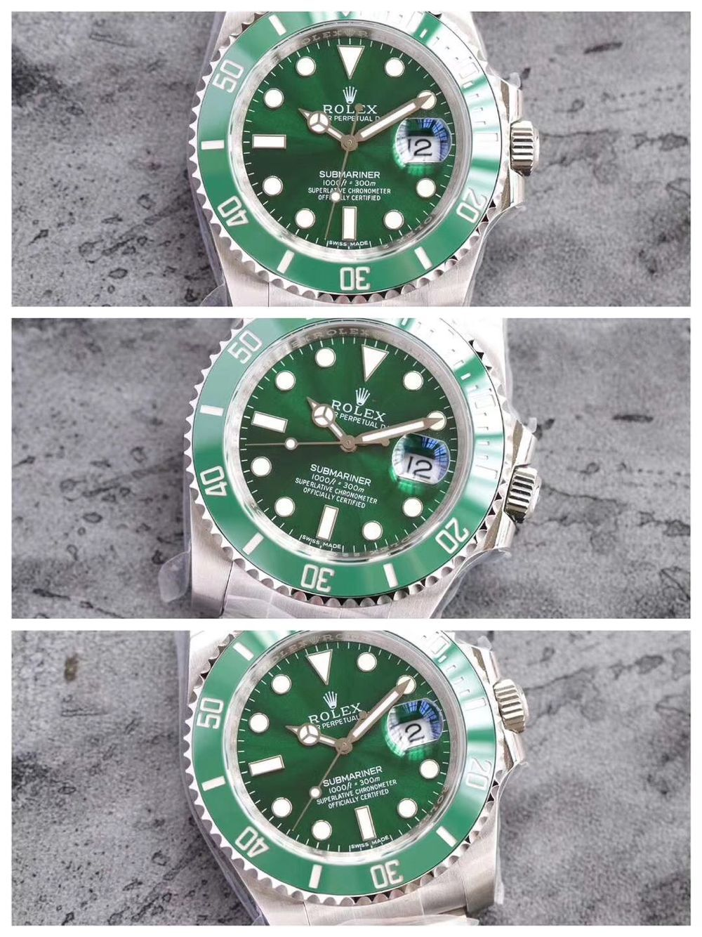 Rolex Submariner Green Watch for men