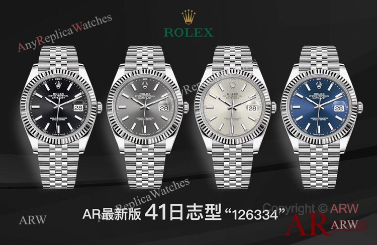 New Replica Rolex Datejust 41 Jubilee Watch- Ref 126334 AR Facyory Rolex 904L (6)