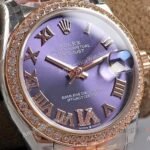 New Lady Rolex Datejust Aubergine Dial Swiss Replica Watches 31mm (3)