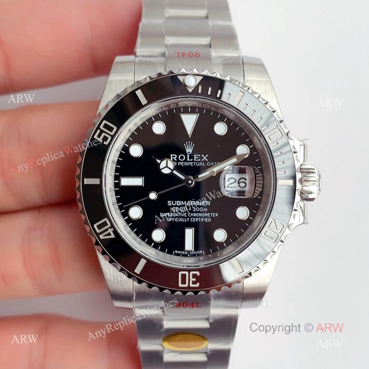 New Noob Factory V11 Rolex Submariner Black Dial Swiss Replica Watches 904L (1)