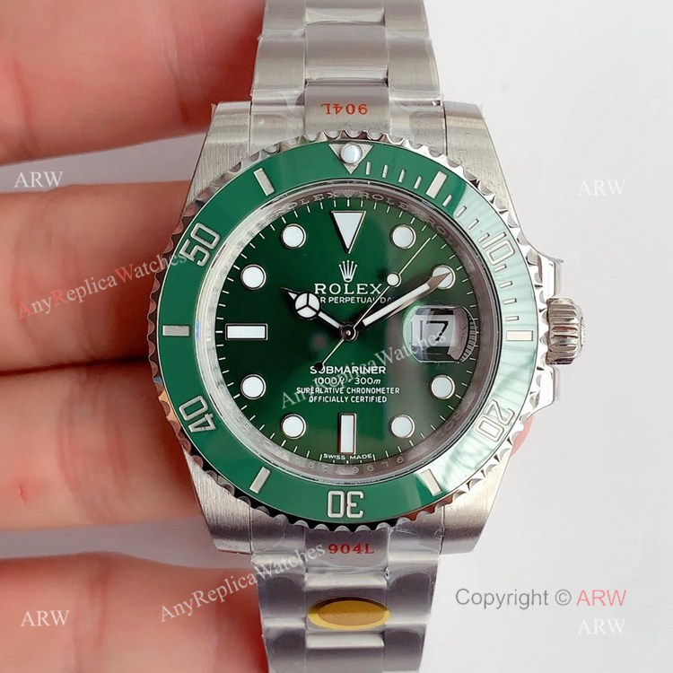 Noob V11 Rolex Submariner 116610LV Green Dial Swiss Replica Watches (1)