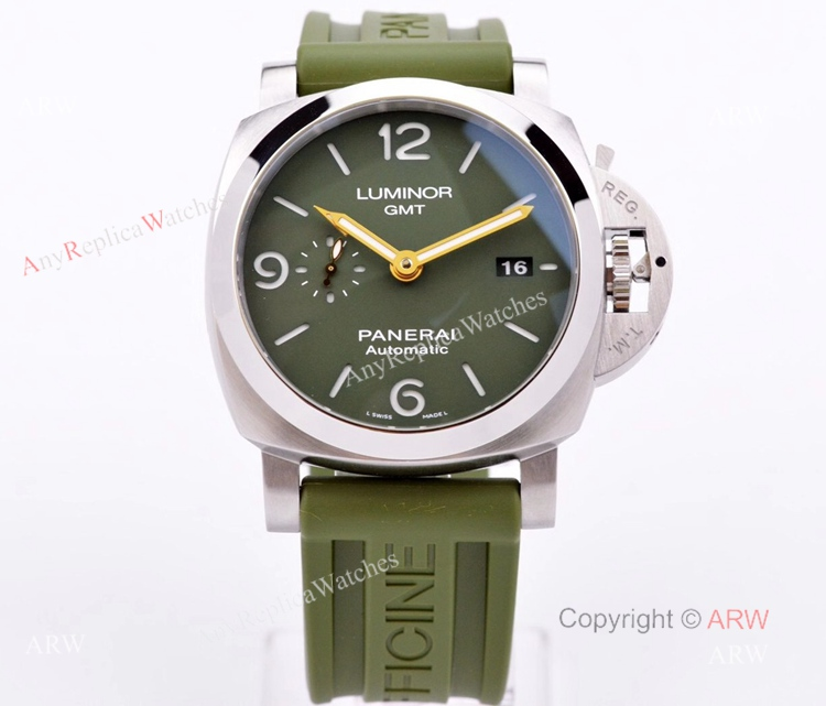 VS Factory Panerai PAM1056 Mahendra Singh Dhoni Luminor Green Dial 44mm Replica Watch (1)