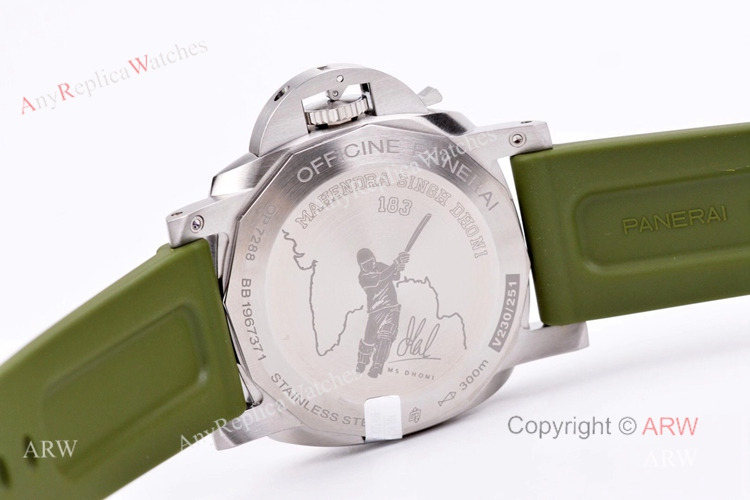 VS Factory Panerai PAM1056 Mahendra Singh Dhoni Luminor Green Dial 44mm Replica Watch (3)