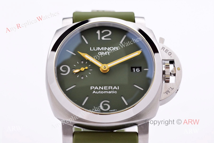 VS Factory Panerai PAM1056 Mahendra Singh Dhoni Luminor Green Dial 44mm Replica Watch (7)