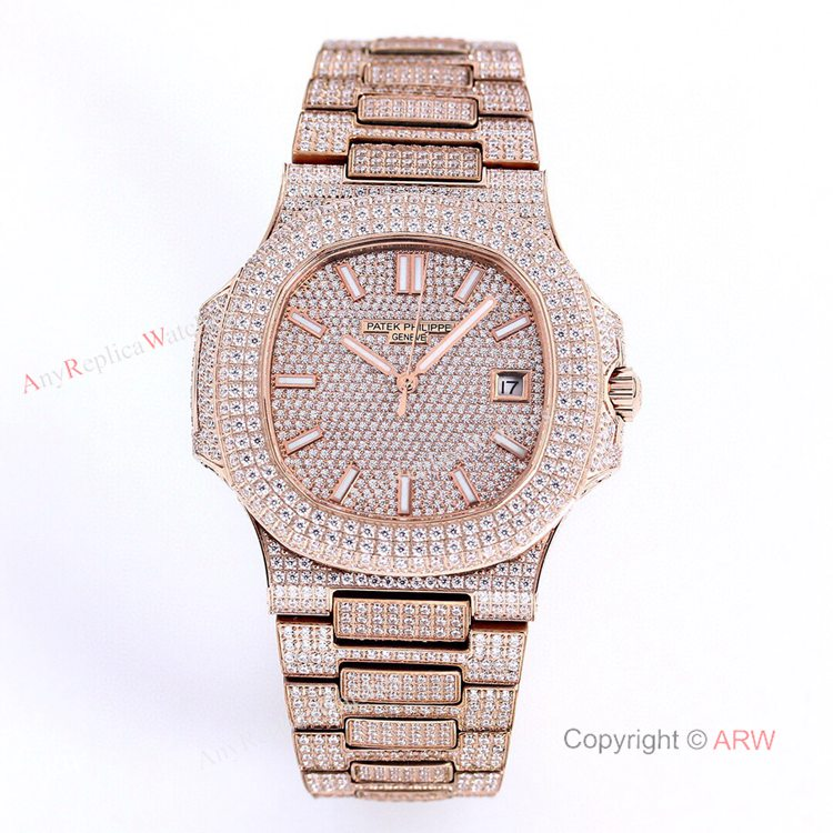 5719 Patek Philippe Nautilus Bust Down Rose Gold Replica Watch 40mm (1)