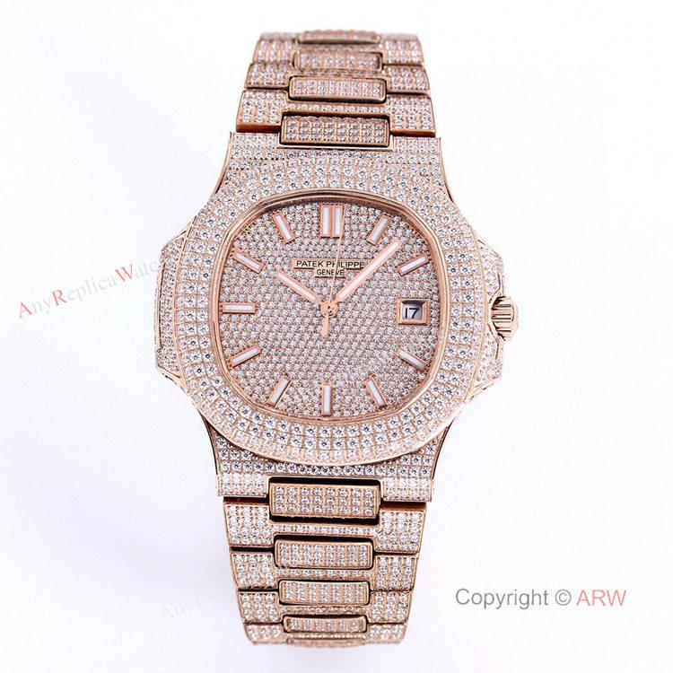 5719 Patek Philippe Nautilus Bust Down Rose Gold Replica Watch 40mm (1)