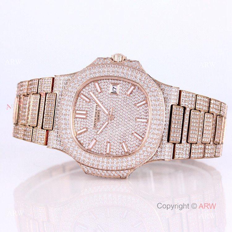 5719 Patek Philippe Nautilus Bust Down Rose Gold Replica Watch 40mm (10)