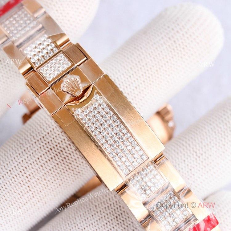 Best Replica Rolex Rose Gold Rainbow Daytona Swiss 7750 Automatic Watch For Men (5)