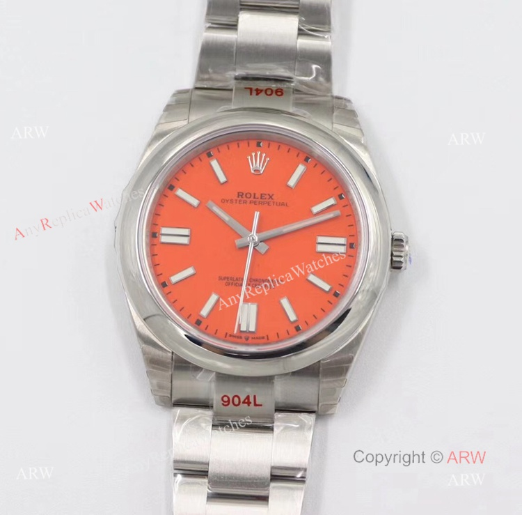 New Rolex Oyster Perpetual 41 2020 Swiss Replica Watches With Coral Red Dial (1)