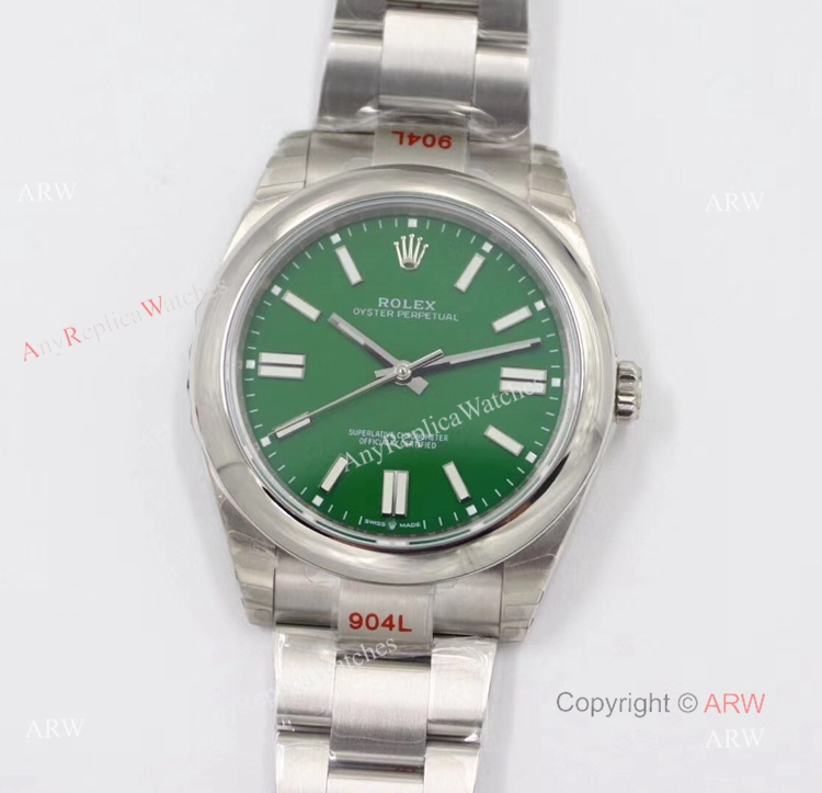 New Rolex Oyster Perpetual 41 With Green Dial Swiss 3230 Replica Watches (1)