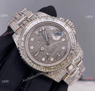 Replica Rolex GMT-Master II 116769 Ice Watch Stainless Steel Diamond Dial
