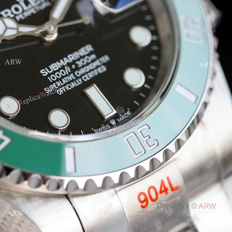 New Noob Replica Rolex Submariner 41mm Green Bezel Replica Watch Oyster Bracelet (3)