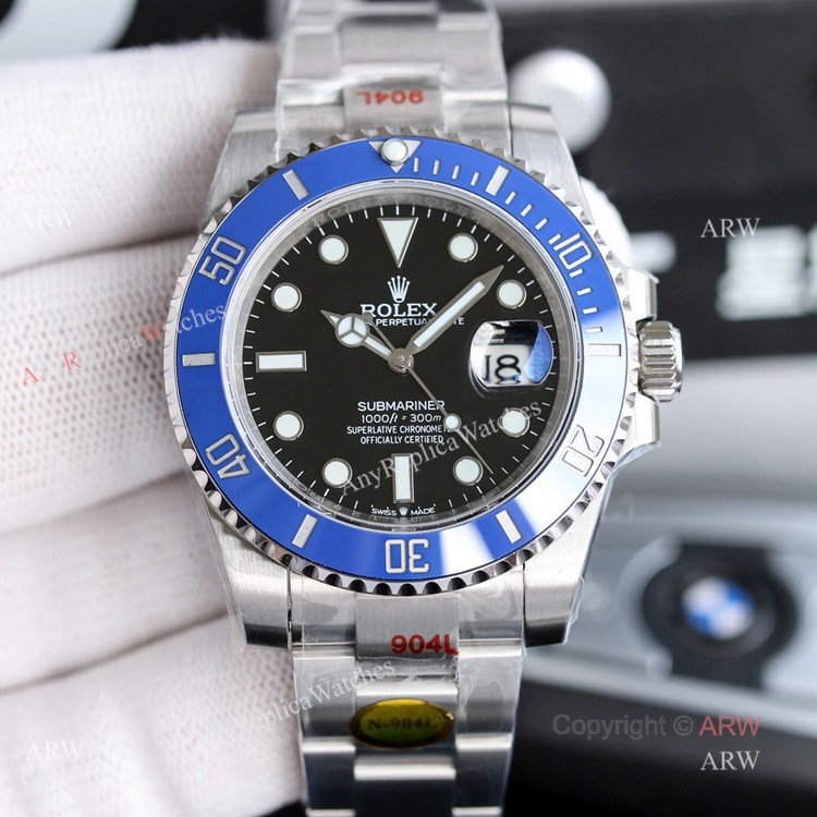 New Noob Rolex Submariner 2020 41mm Blue Bezel Replica Watch For Men (1)
