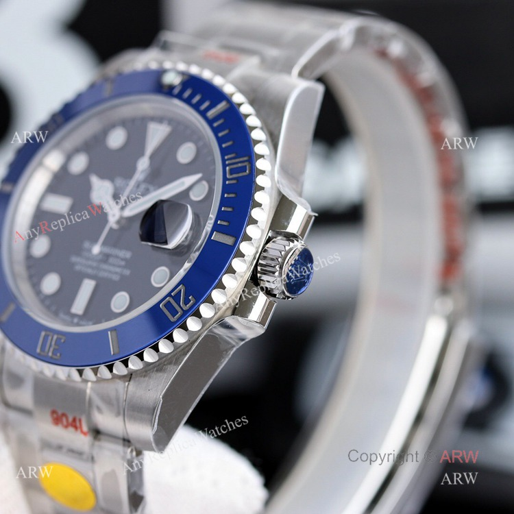 New Noob Rolex Submariner 2020 41mm Blue Bezel Replica Watch For Men (4)