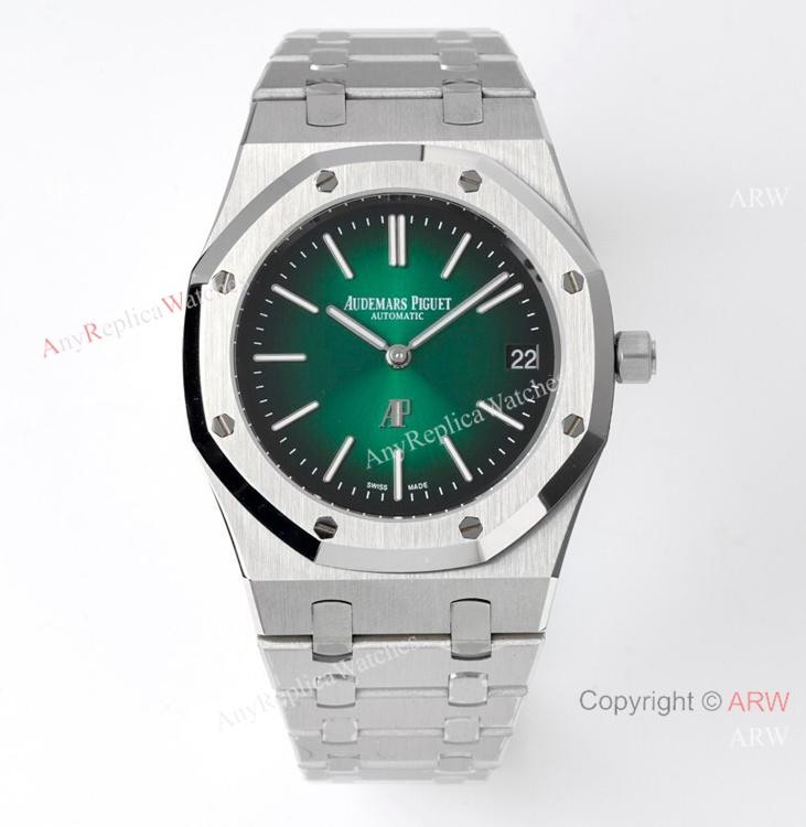 New Audemars Piguet Royal Oak Green Dial Swiss Made High End Replica Watches 39mm (1)