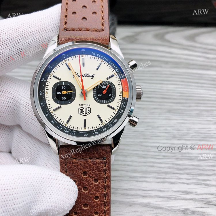 GF Factory Breitling Top Time Deus 41mm Leather Strap Watch Superclone (1)