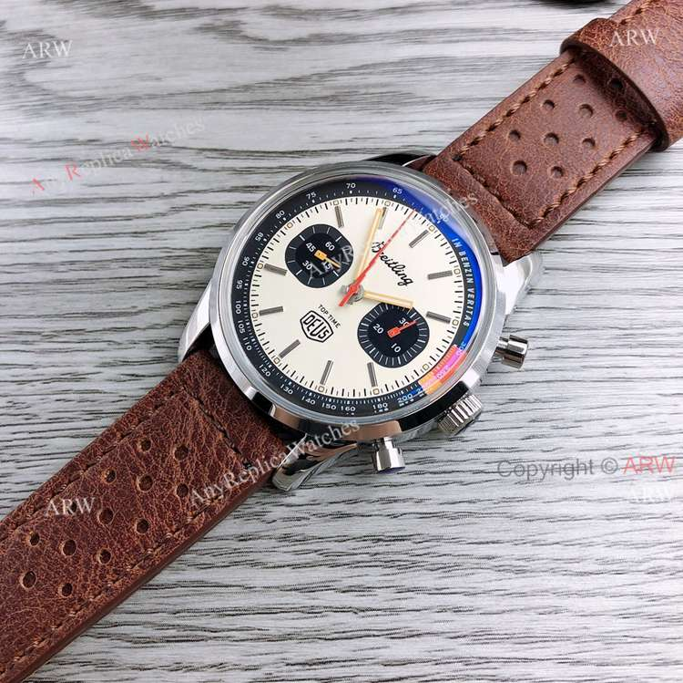 GF Factory Breitling Top Time Deus 41mm Leather Strap Watch Superclone (3)