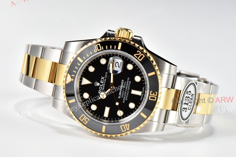 Clean Factory Rolex Submariner Date 116613LN Black Dial 904L Swiss 3135 Replica Watch (4)