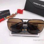 2017 New Porsche Design P8806 Sunglasses Brown Lens Gold&Black Frame unisex